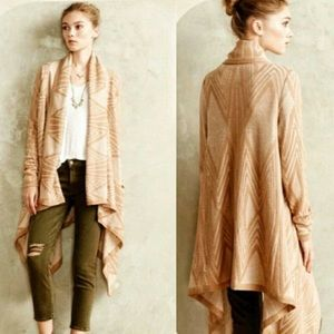 Anthropologie Moth | Tan Aztec Duster Cardigan